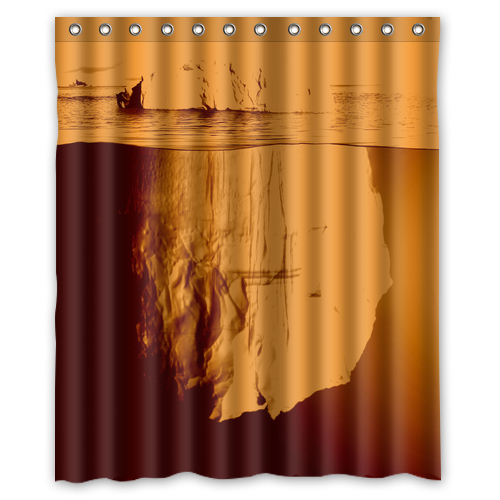 vintage sea stone customized red waterproof shower curtain bathroom curtains 36x72 48x72 60x72. Black Bedroom Furniture Sets. Home Design Ideas