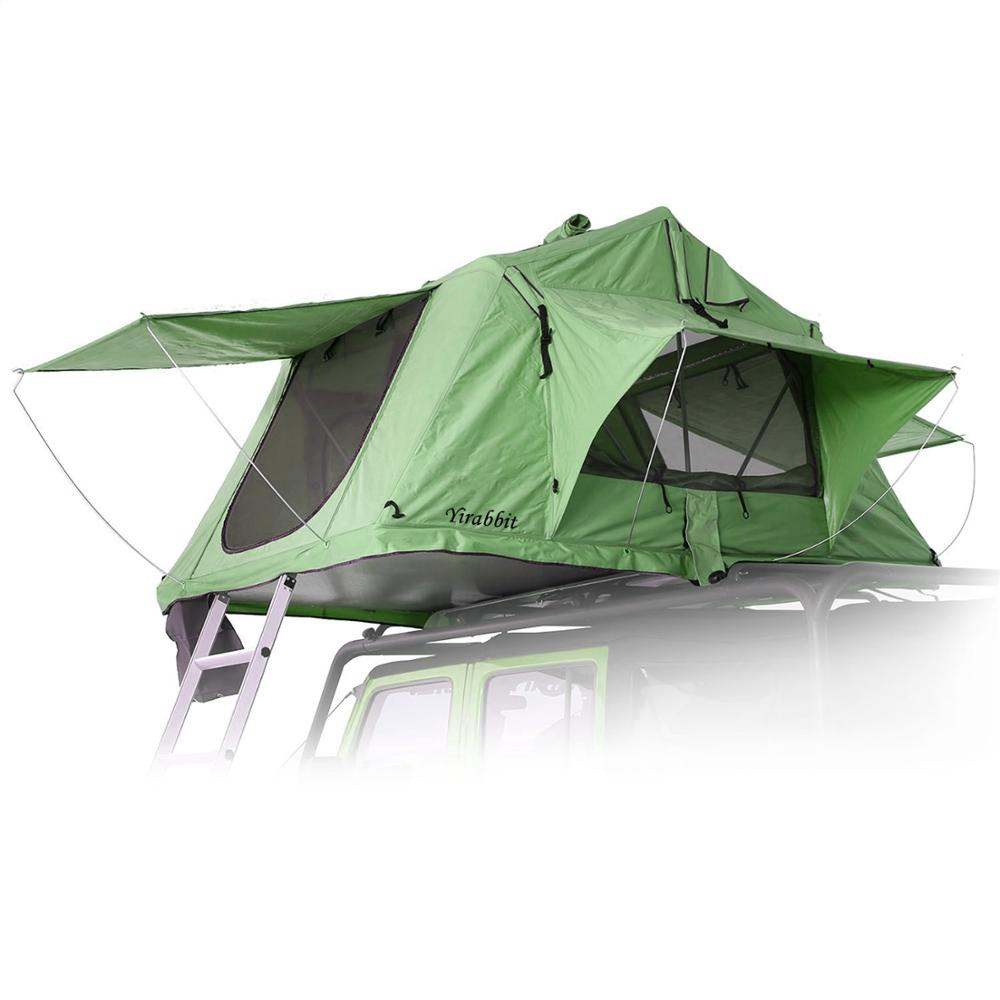 Custom wholesale Awning Sun Shelter Auto Canopy Camper Trailer Tent hard shell roof top tent hard shell Manufacturer