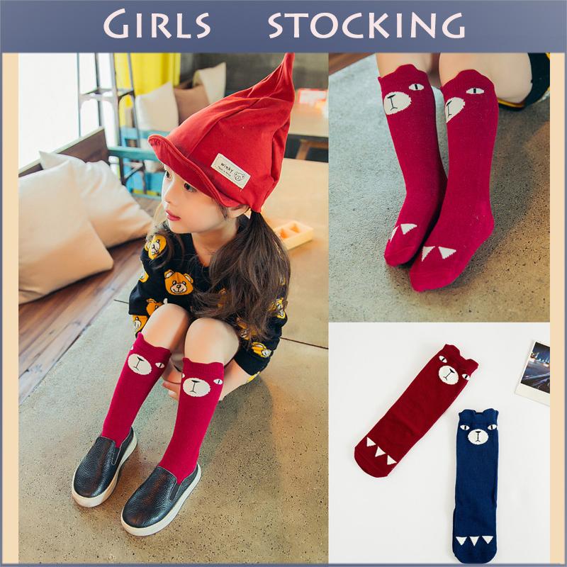 Hot Sell Brand Designer Kawaii Animal Pattern Kids Stockings Children School Knee High Girls Boys Leg