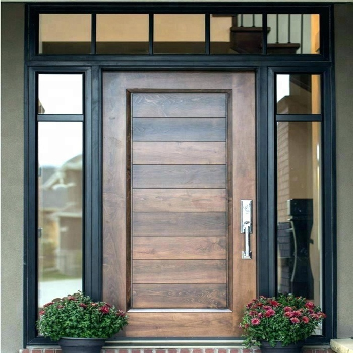Modern Mdf Or Plywood And Solid Wooden House Front Door Designs Buy Front Door Designs Solid Wood Door Mdf Door Product On Alibaba Com
