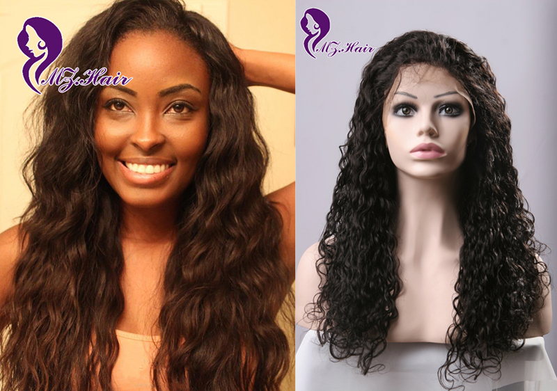 Peruvian Human Curly Lace Front Wigs Long Curly Human Hair