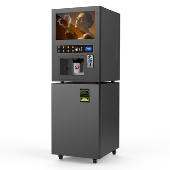 4 Hot 4 Cold Automatic Vending Instant Coffee Powder Machine