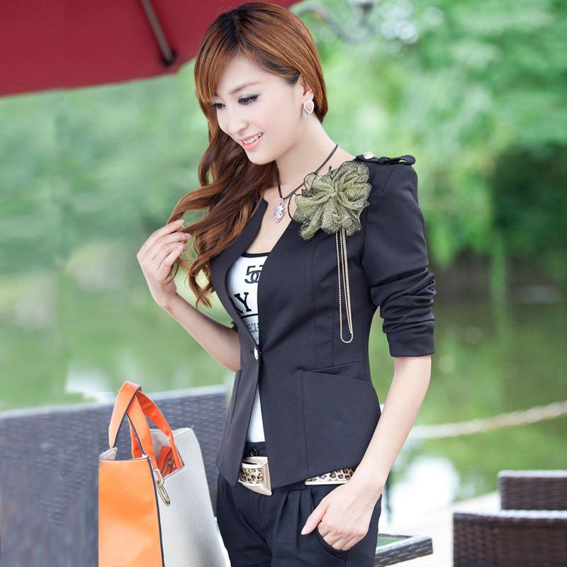 Пиджак женские бизнес костюмы верхняя одежда винтажный преппи вышивка знак женское костюм приталенный пиджак зима одежда