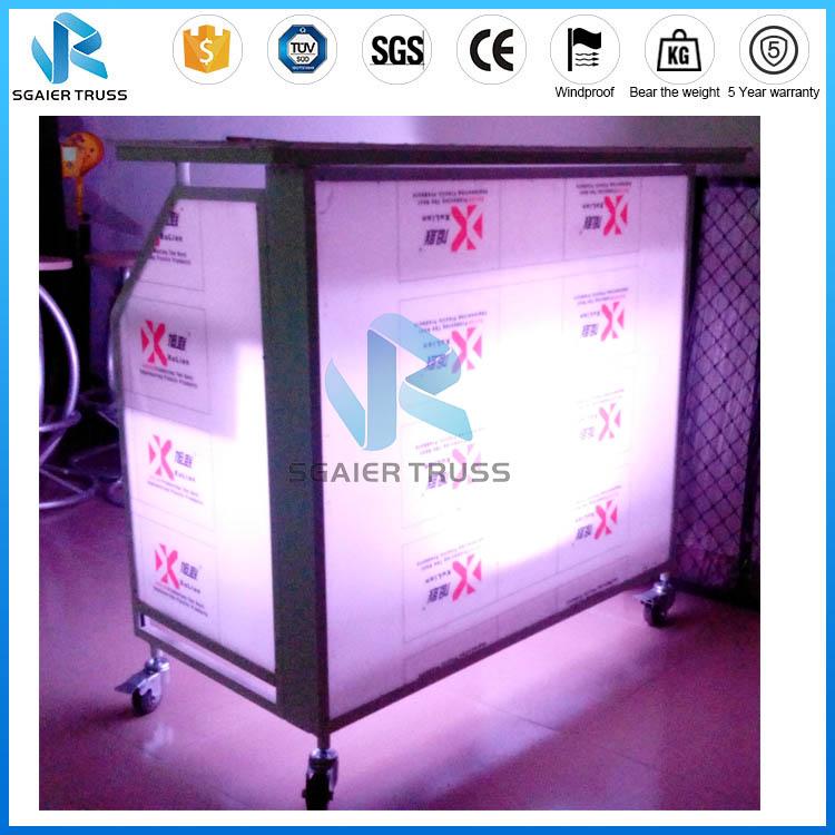 Портативный алюминиевый светодиодный складной барный столик для напитков