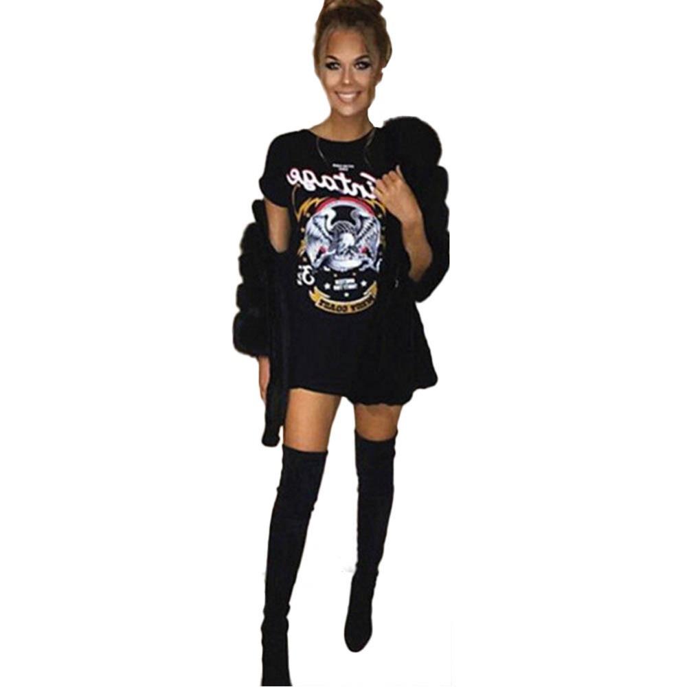 Uk Womens Short Sleeve Black Dress Ladies Eagle Print T-shirt Dress - Buy T Shirt Dress,Women Print T Shirt Dress,Baroque Print Dress Product on ...