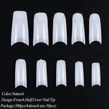 Полная красота, 500 шт., для дизайна ногтей, ложные наконечники, французская быстросохнущая УФ-форма для наращивания, для самостоятельного на...(Китай)