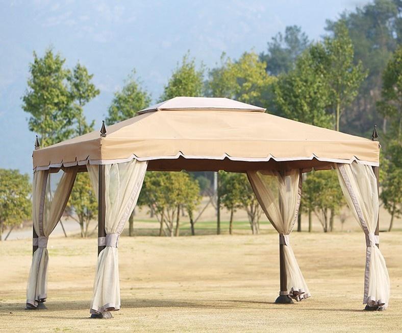Современная Стальная рама, наружная палатка для патио, сада, тента, беседки, наружная палатка