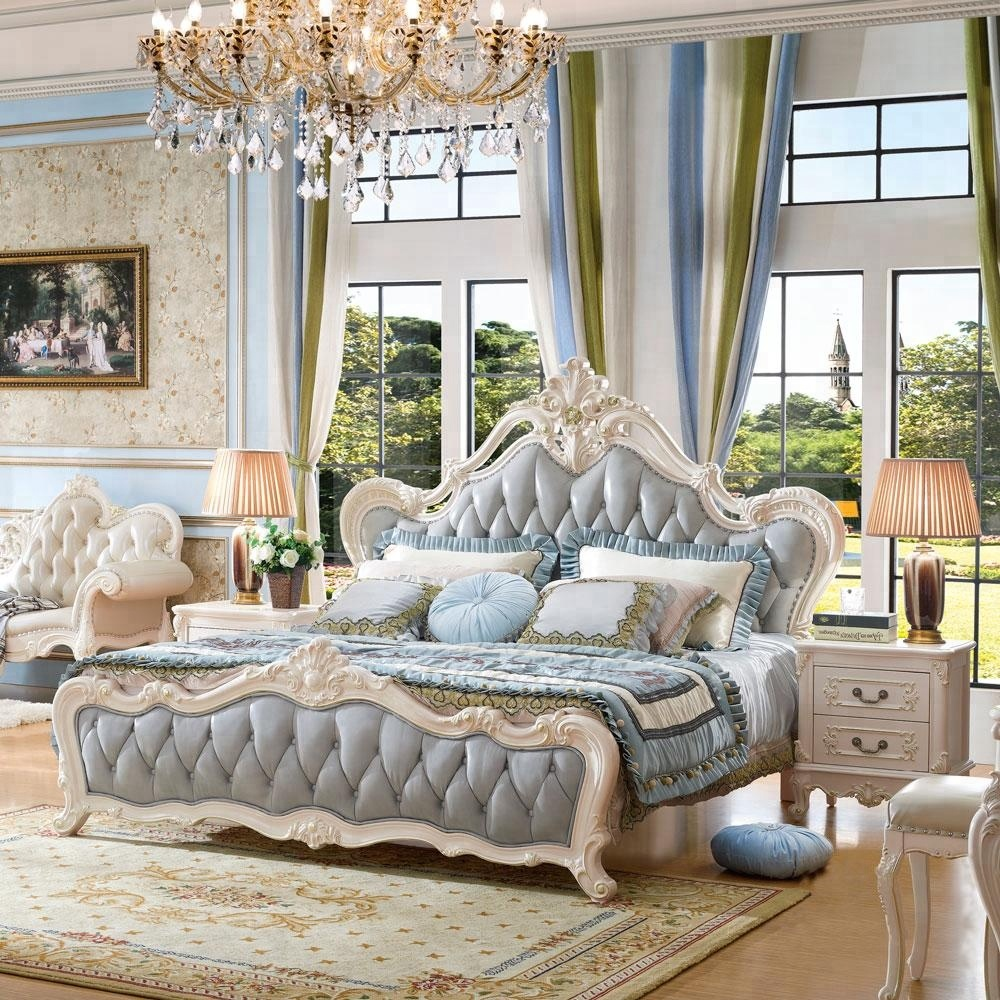 European Classic Style Queen Size White Color Wood Bedroom Set Buy White Bedroom Set Queen Bedroom Set European Bedroom Set Product On Alibaba Com