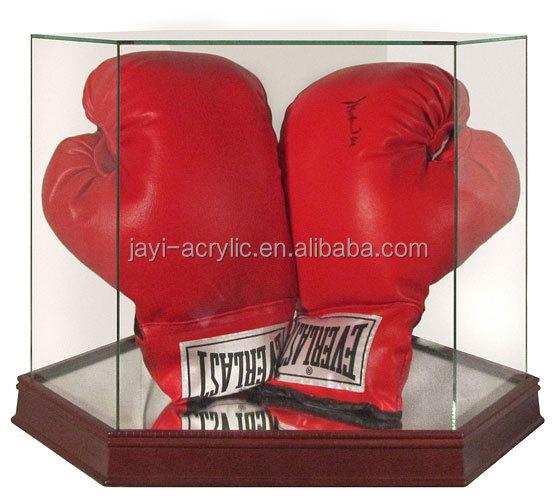 Хит продаж, прозрачная акриловая коробка для боксерских перчаток, коробка для боксерских перчаток из перспекса с крышкой