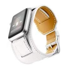 Ремешок для часов Apple Watch из натуральной кожи с логотипом Herm Apple Watch 5 4 3 2 1 Ремешок Браслет для iWatch 44 40 42 38 мм ремень(Китай)