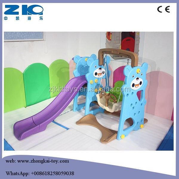 Factory Manufacture Various Baby Plastic Play Children's Slide And Swing Set