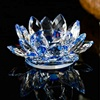 crystal blue  lotus flower
