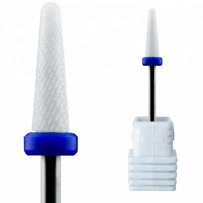 Высококачественная электрическая пилка для ногтей, безопасные биты, конусные биты, керамическое искусство 3/32, маникюр