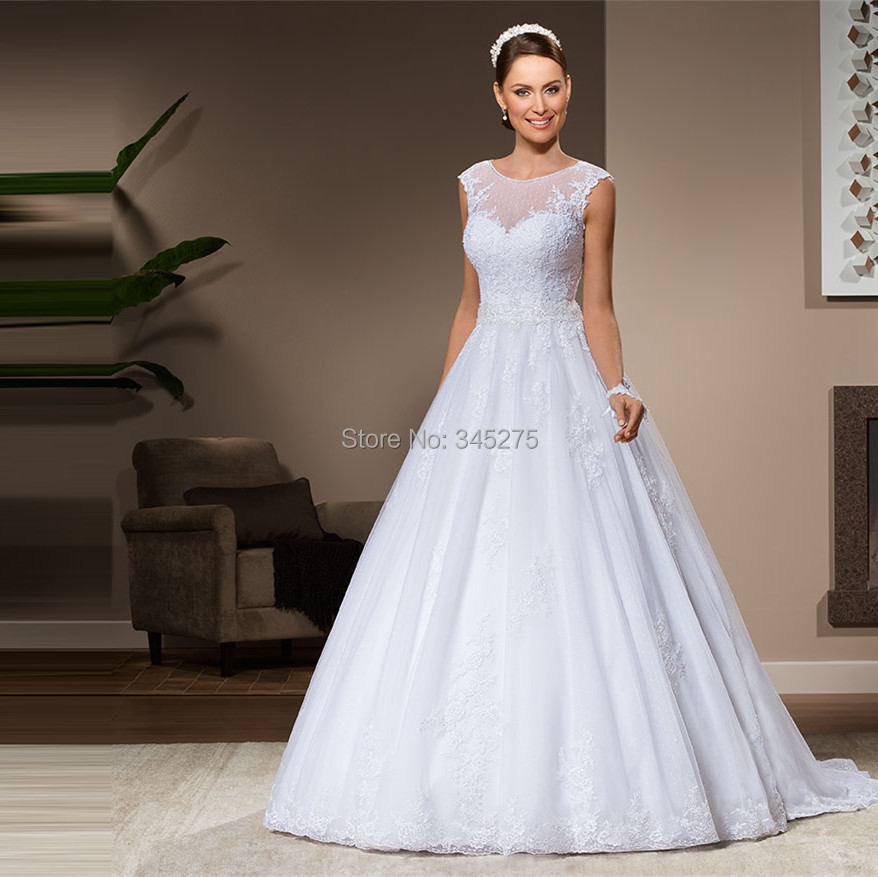 Wedding Gown Necklines: Aliexpress.com : Buy Brazil Lace And Tulle Sleeveless