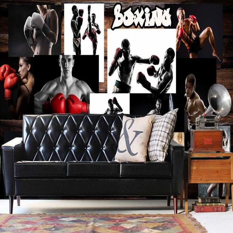 Boxing Gym Photo Wall Sexy Wallpaper Bathroom Wallpaper Wallpaper Wholesale