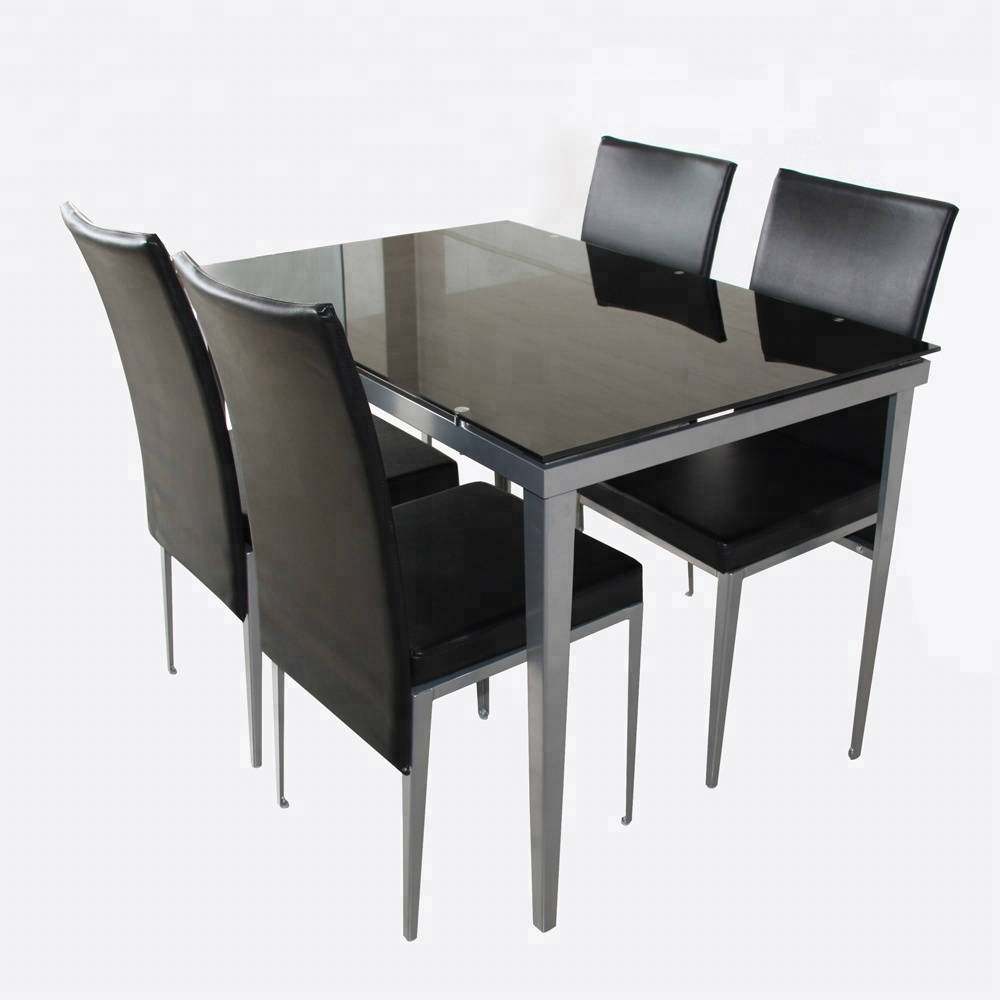 Modern Dining Tables Set High Quality Tempered Glass Top Table For ...