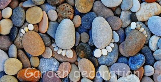 Натуральный речный камень черного цвета, галька