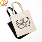 Natural recycled shopping cotton bag &Custom canvas tote bag