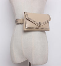 Mihaivina Женская поясная сумка с заклепками, повседневная поясная сумка из искусственной кожи, женские сумки для путешествий, поясные кошельки...(Китай)
