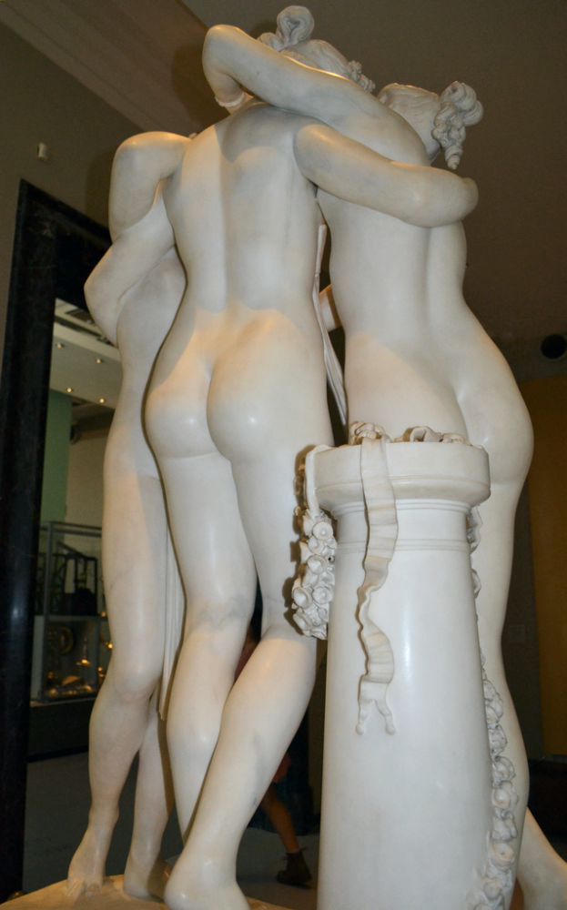 large outdoor garden the three graces white nude woman marble statue price