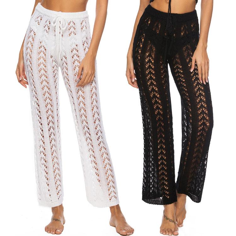 Pantalones Anchos De Punto Para Mujer Pantalon De Playa Color Liso Para Vacaciones Buy Bikini Negro Bikini Sexy Para Mujer Traje De Bano Bikini Para Mujer Product On Alibaba Com
