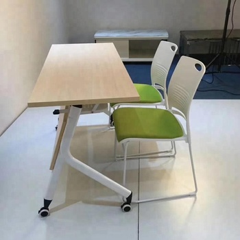 2018 Hot sale office furniture folding training table and chair