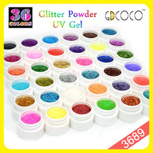 3689 GDCOCO New Arrival 36 colors Gillter Power UV GEL