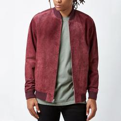 Мужская Фланелевая куртка-бомбер из мягкой замши