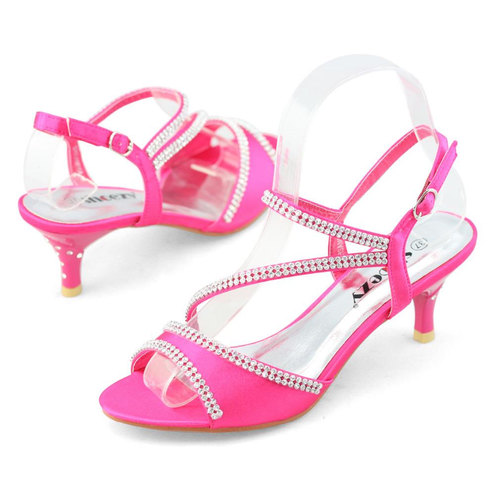 Fuschia Low Heel Wedding Shoes: Fuschia Pink Heels Wedding