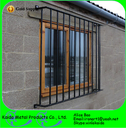 Ornamental French Security Modern Wrought Iron Window