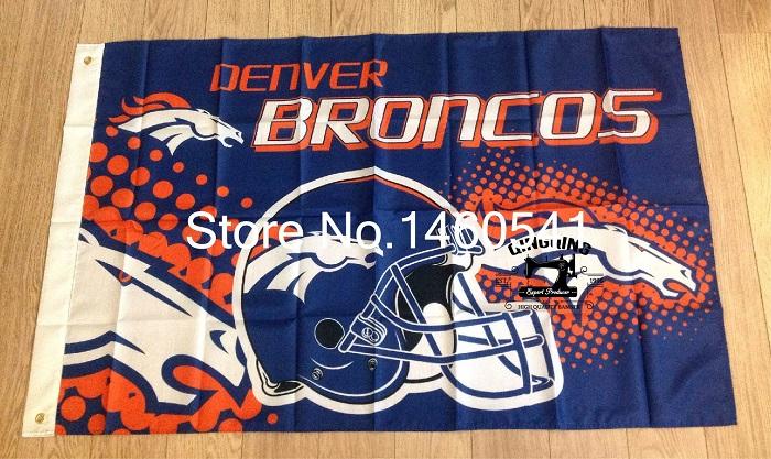 Denver Broncos New Wordmark Flag 3ft X 5ft Polyester Nfl