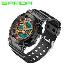 2016 Nova Marca SANDA Moda Homens Relógio G Estilo do Relógio Digital de Choque À Prova D' Água Esportes Relógios Militares S Homens Relogio masculino