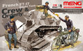 Meng Model HS 005 1 35 French FT 17 Light Tank Crew Orderly tank not included
