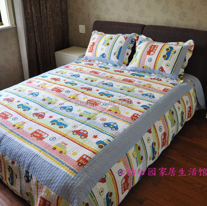 Free Shipping Discount Twin Car Truck Bus Boys Bedding