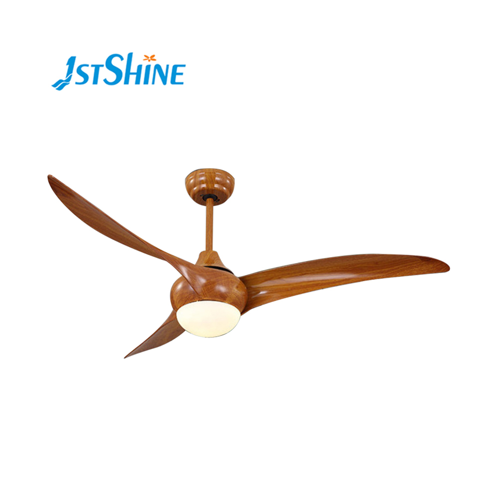 1stshine 52 inch 110v 3 abs wood color blades ceiling fan with light and remote control