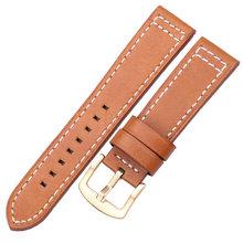 Ремешок для часов, из натуральной кожи, винтажный, черный, коричневый, серый, синий, 18, 20, 22, 24 мм(China)