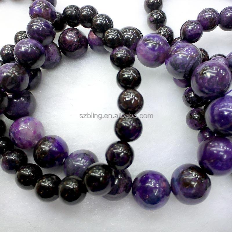 Sugilite and Amethyst Beaded Bracelet