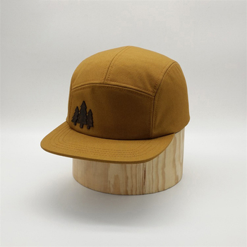 New Design Unstructured Low Profile 5 Panel Quilted Fabric Waxed Cotton Snapback Caps Camp Hats