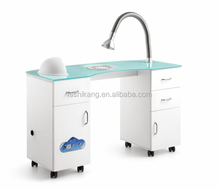 Commercial Furniture Plastic Nail Table Manicure Table Used Nail Salon Furniture Nail Technician Tables
