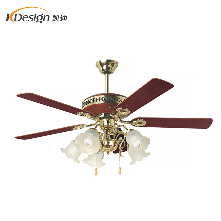 220v Ac Classic Style Led Light Ceiling Fan Mess Hall 5 Flower Lights Copper Motor Ceiling Fans Lamps View 220v Ac Classic Style Led Light Ceiling Fan Kaidi Product Details From Foshan