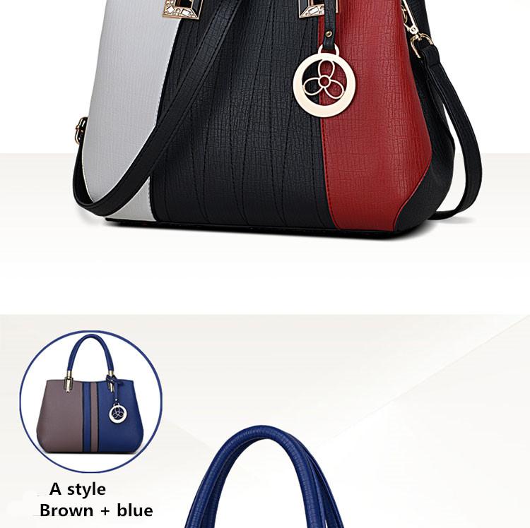 JOOZ New Arrival Women Messenger Bag patchwork Top Handbag Ladies ... 6670578642774
