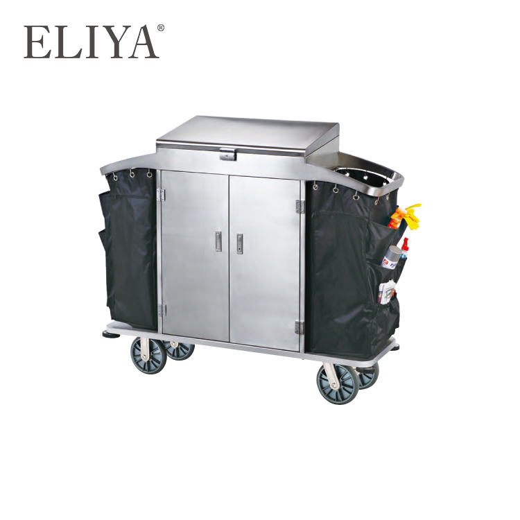 Customized Used Room Service Housekeeping Maid Trolley Hotel Luggage Cart
