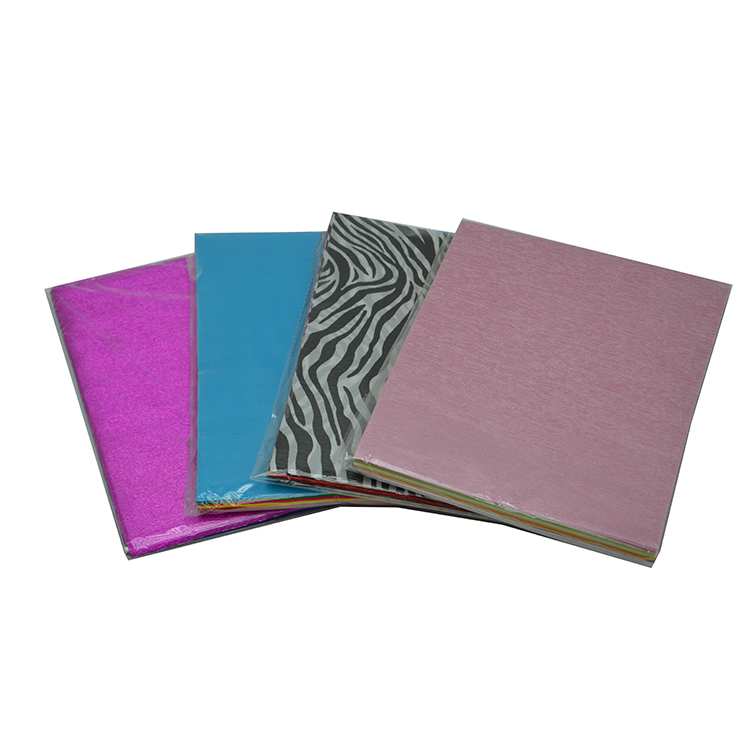 Цветной лист из крепированной бумаги для изготовления цветов