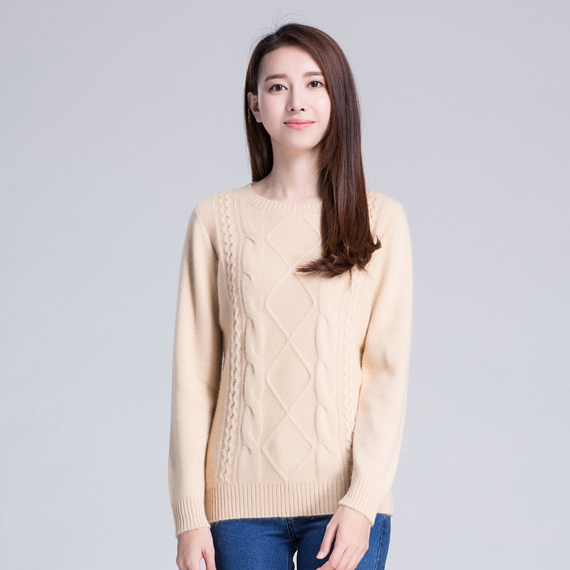 100% Pure Cashmere Sweaters Women Winter Warm Thick ...
