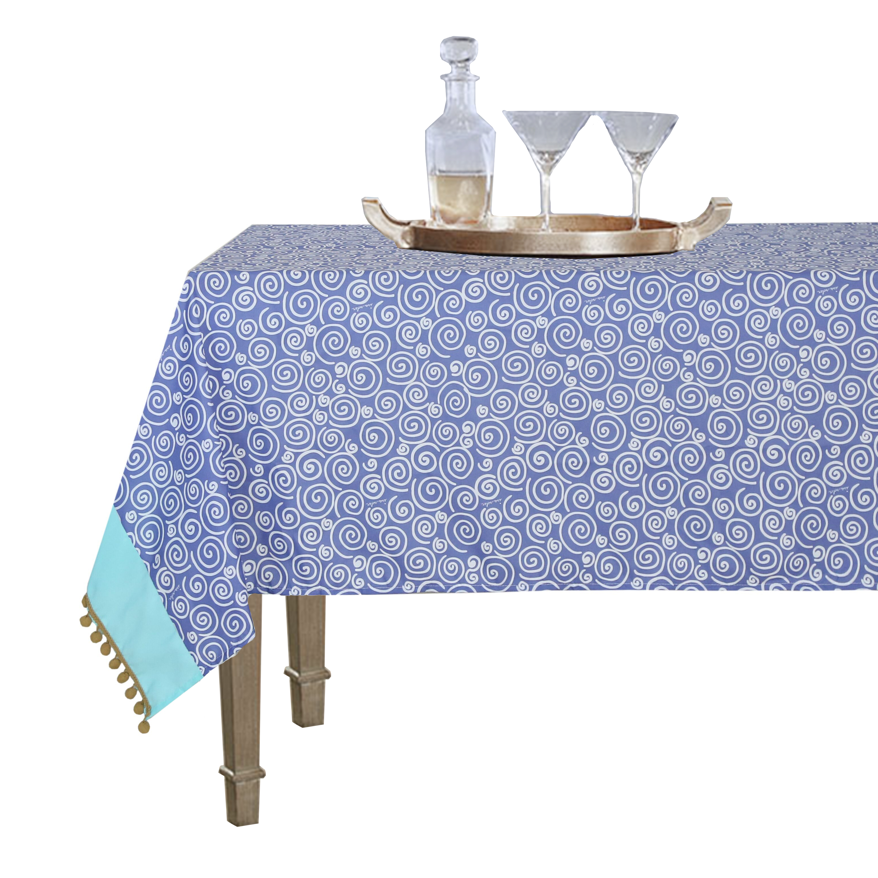 2019 New fancy home popular dining round party decor embroidery table cloth 100 polyester microfiber fabric