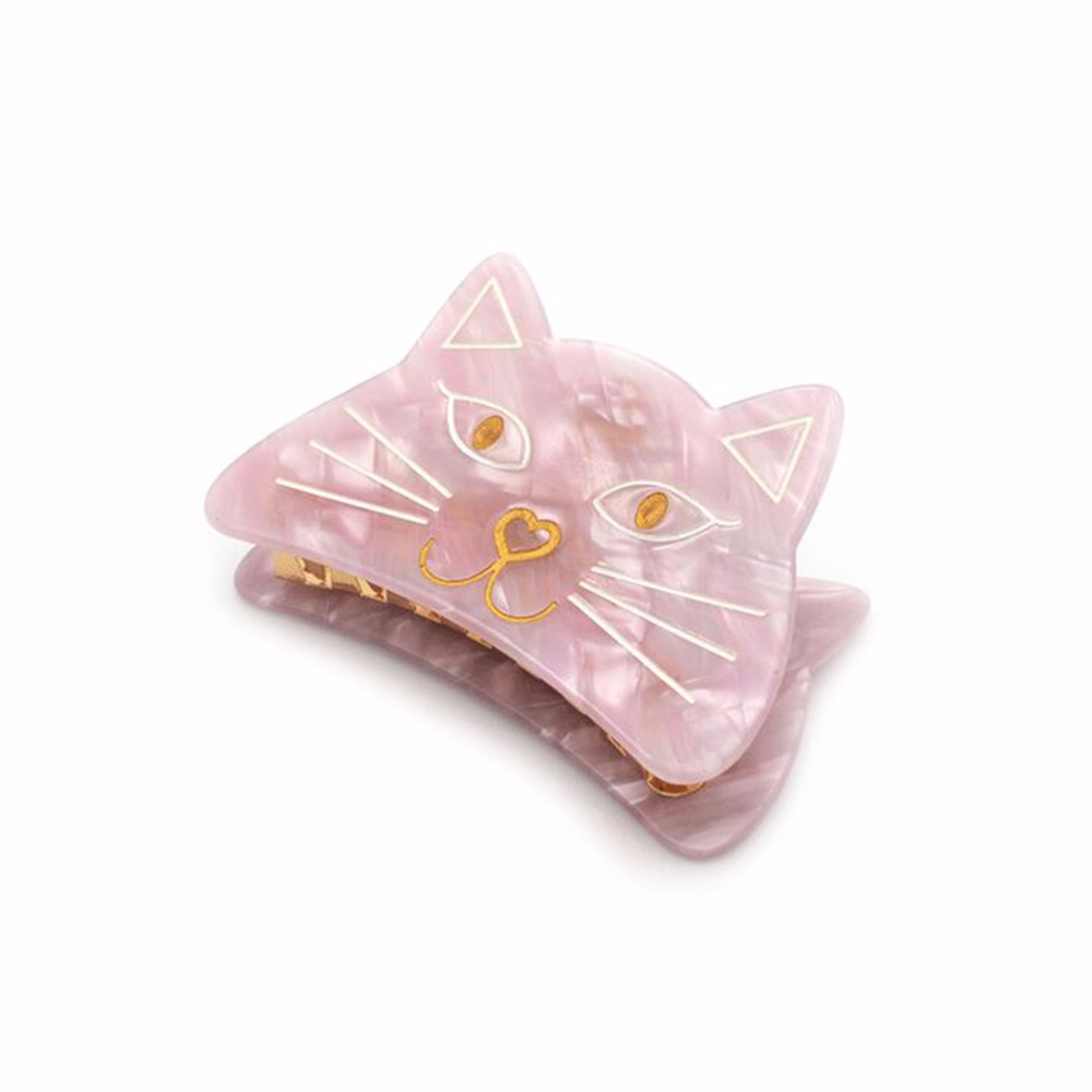 1PC Acetate Cute Cartoon Cat Animal Barrettes Hairpins Hair Clip Hair Accessory