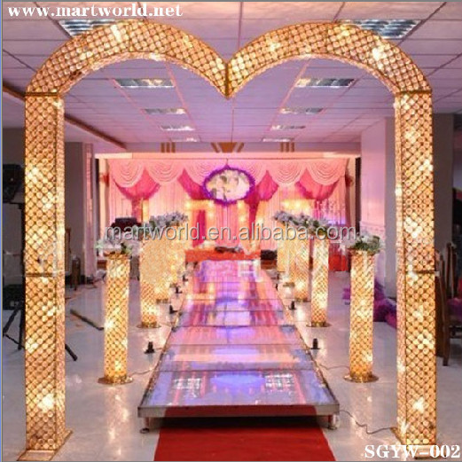 Lighted Led Pillars For Wedding Decorations.crystal