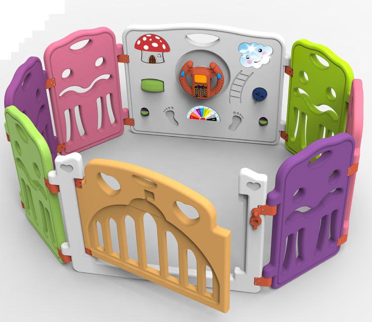 parc b b parc de jeux pour enfants en plastique de s curit de cl ture de jeux couverte parc. Black Bedroom Furniture Sets. Home Design Ideas