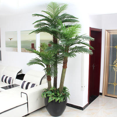 Real touch gluing process tall emanem-tree tropical ornamental plants riches tree