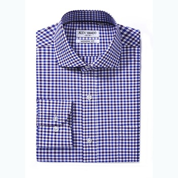 OEM high quality slim fit cotton plaid fabric dress men office shirts bamboo fabric shirts